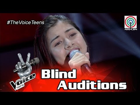 The Voice Teens Philippines Blind Audition: Ashley Barilea  Para Sa Akin