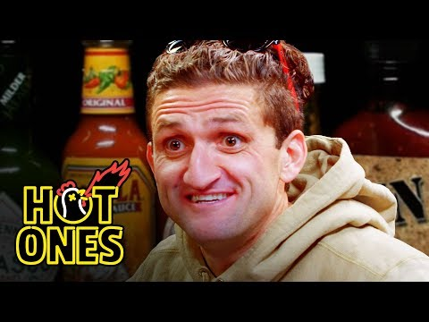Casey Neistat Melts His Face Off While Eating Spicy Wings | Hot Ones