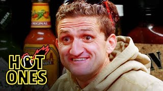 Casey Neistat Melts His Face Off While Eating Spicy Wings | Hot Ones thumbnail