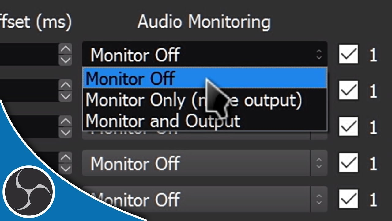 OBS Studio 111 - Audio Monitoring Guide - How to hear your capture card on  PC in OBS! (TUTORIAL)
