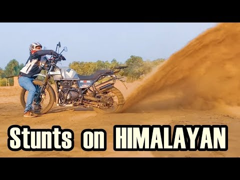 Bike Stunts On  Royal Enfield Himalayan Like a Toy - REVIEW - PROS & CONS
