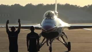 USAF Thunderbirds Arrive at Dobbins ARB for Super Bowl 53