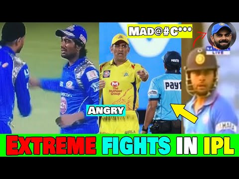 8 Cricketers who got into Fight in IPL/International Match | Ms Dhoni,Virat Kohli,Ravindra Jadeja