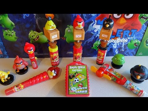 Angry Birds Football Power Cards - Light Up Spinner & Fan + TNT Heads Toys Collection