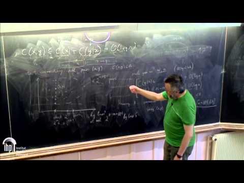 Nexus Trimester - Alexander Shen (LIRMM, Montpellier) 2/2