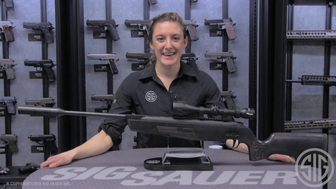 Sig Sauer Airgun SSG ASP20 .22 20FP Wood Stock SUPPRESS