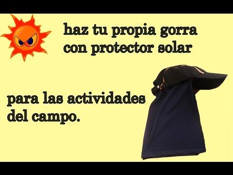 Gorra para protegerse del sol casera para trabajos en el campo youtube - Como vallar un campo ...