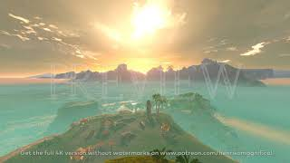 Zelda Breath of the Wild (Eventide Island Day & Night) - 4K 60FPS Looping Background