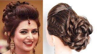 Divyanka Tripathi Hairstyle | Celebrity Hairstyles | messy bun | wedding hairstyle | s for style