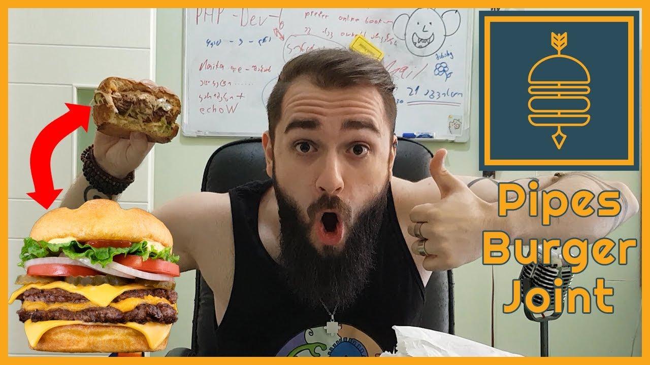 ძალიან გემრიელი ჩიზბურგერი  და ცუდი კარტოფილი ფრი  Pipes Burger Joint