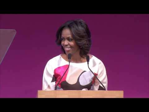 Michelle Obama promotes global education during speech at Stanford Center at Peking University