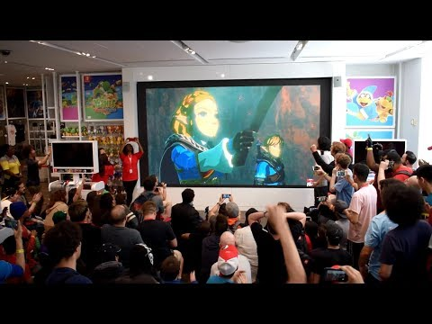 The Legend of Zelda: Breath of the Wild Sequel Reveal Live Reactions at Nintendo NY