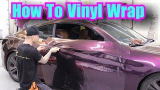Super Detailed Vvivid Nightshade Purple Door Vinyl Wrap