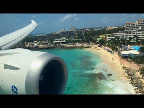 Boeing 787 Dreamliner at Princess Juliana Int'l Airport (SXM), St Maarten