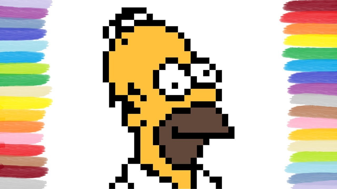 How To Draw Homer The Simpsons Pixel Art