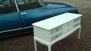 Vintage Painted Shabby Chic Chest Of Drawers Sideboard