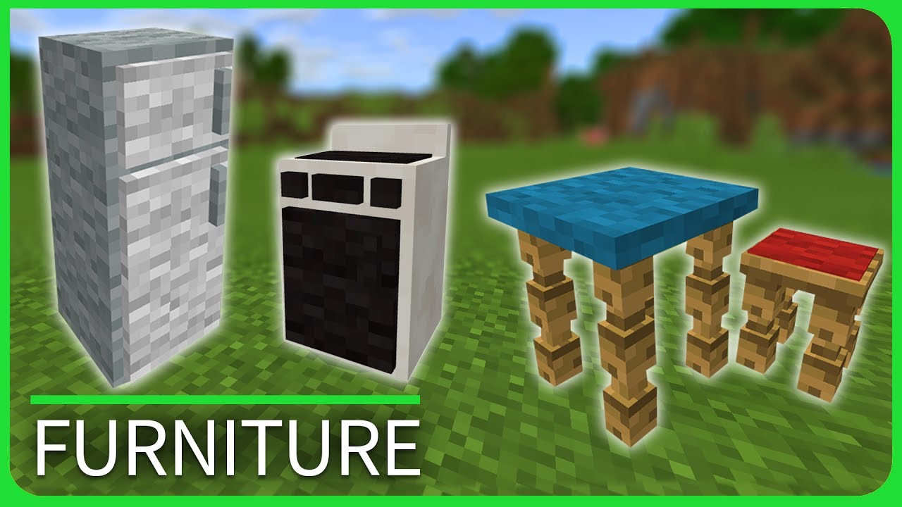 Minecraft pe addons modern furniture