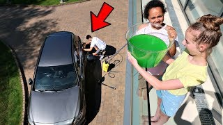 SLIME PRANK ON MY BROTHER!!
