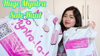 Huge Myntra End Of Reason Sale Haul Kurta Palazo , Bags , Tops, Skirts ,jhumka