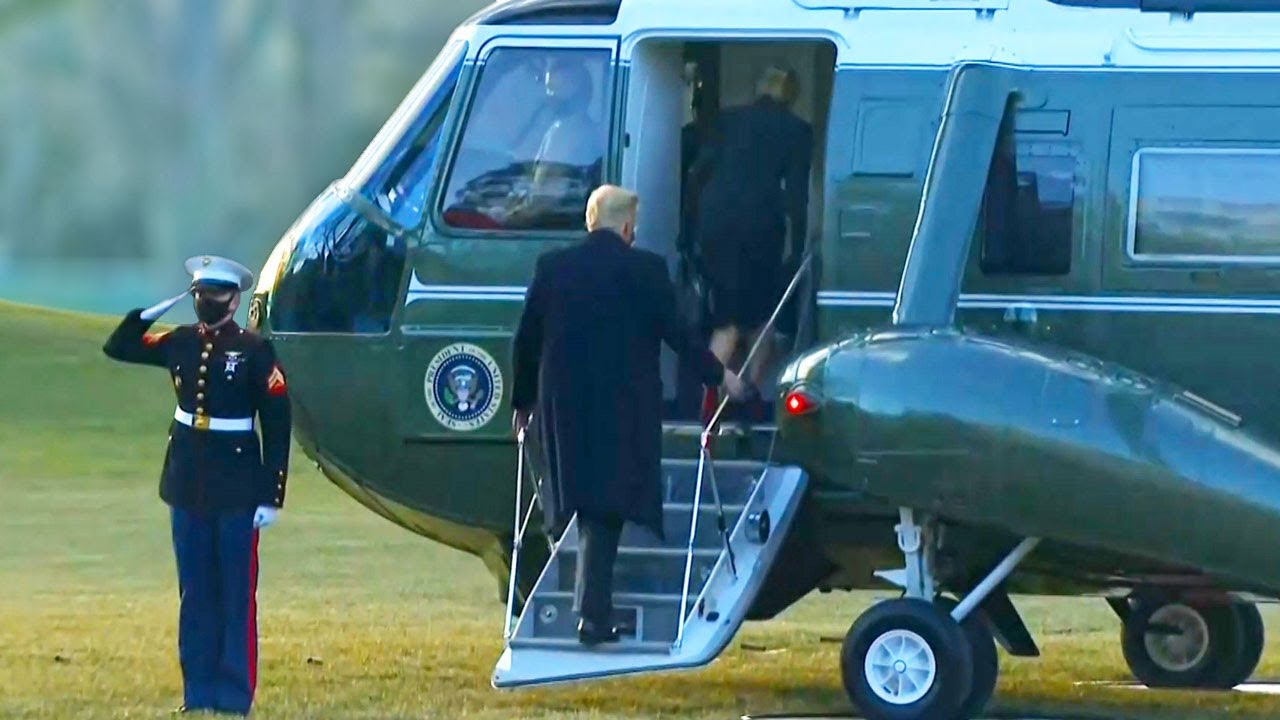Download Donald Trump departs White House and boarded Marine One