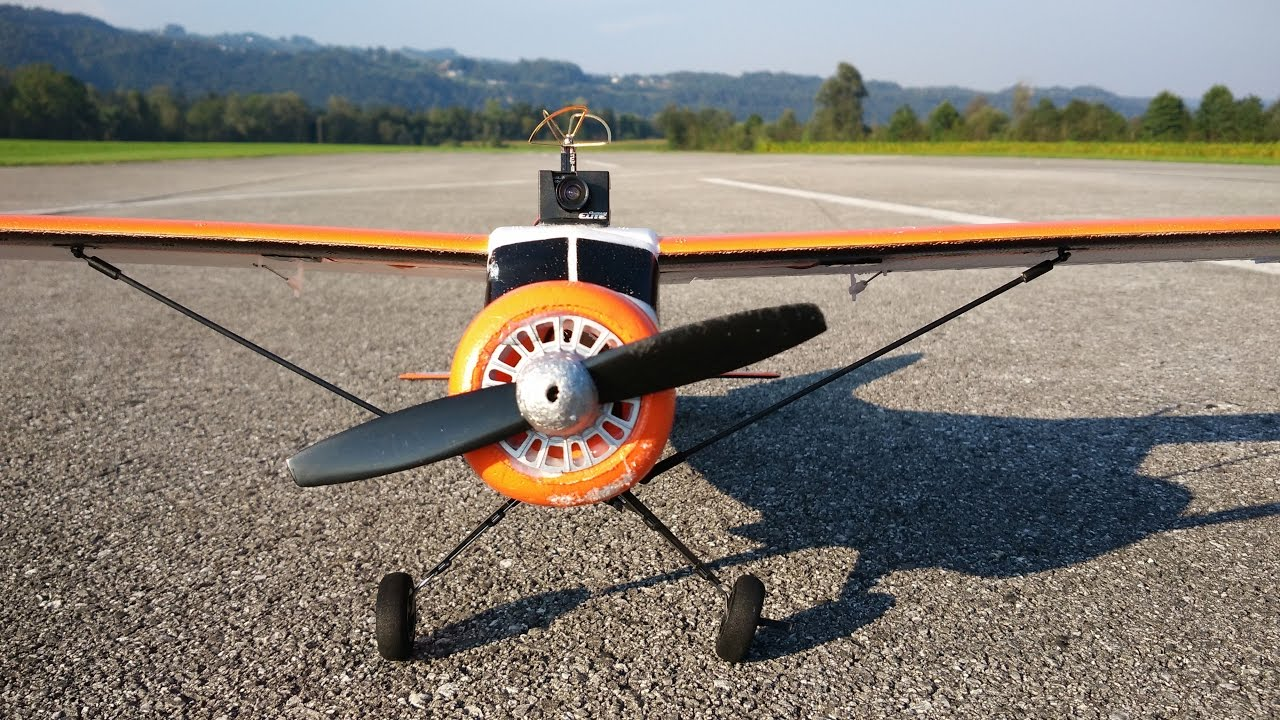 Micro FPV RC plane with full stabilization for 100 USD