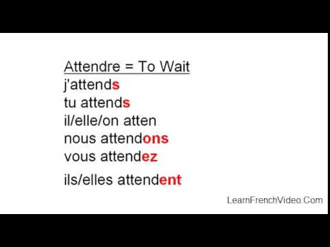 French Regular RE Verbs - YouTube