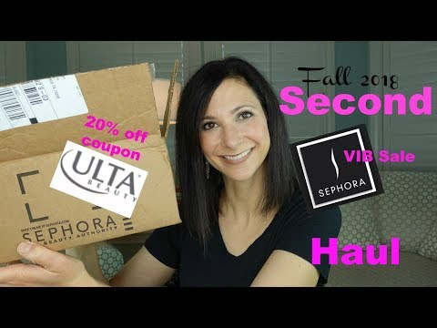 Sephora VIB Sale Haul/Ulta Haul Part 2! | Fall 2018! | Dr. Dani Fisher
