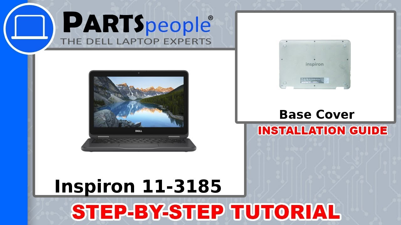 Dell Inspiron 11-3185 (P25T003) Bottom Base Cover How-To Video Tutorial
