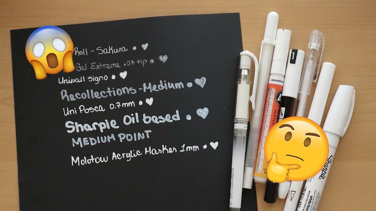 Best White Pen Most Opaque Pen White Marker Demo