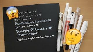 Best White Pen - Most Opaque Pen -  White Marker Demo