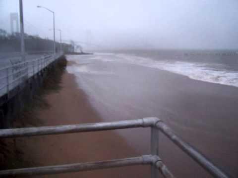 Hurricane Sandy - South Beach Staten Island Boardwalk - The VERY Beginning  10/29/2012 -  1 of 3