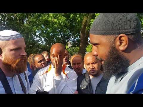 ANGRY MAN INTERRUPTS DEBATE | MUSLIM VS ZIONIST JEW | HUSSAIN || SPEAKERS CORNER