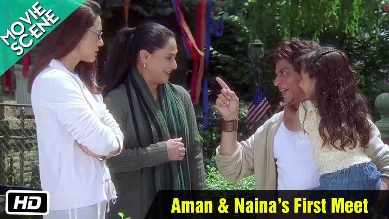Aman & Naina's First Meet - Movie Scene - Kal Ho Naa Ho - Shahrukh Khan,  Preity Zinta - YouTube