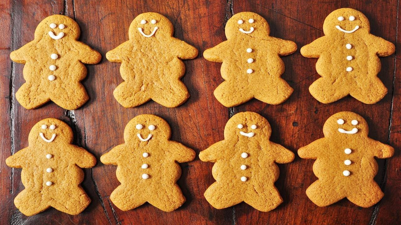 Gingerbread Men Recipe Demonstration Joyofbaking Com