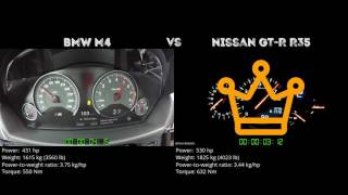 BMW M4 vs. Nissan GT-R R35 - the 0-100 km/h duel. Which one is fast...