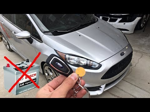 how to open ford fiesta focus st with dead battery youtube. Black Bedroom Furniture Sets. Home Design Ideas