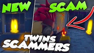 EDIT TRAPS SCAM BOX Twins Loses Loads Of Materials Scammer Gets Scammed Fortnite Save The World
