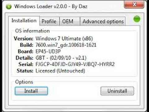 Download Windows Loader 2 2 1 For Windows 7 2014 , Activation by Daz