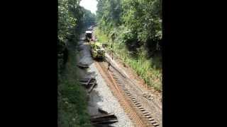 csx c 2 rail gang at pyne ga summer 2013