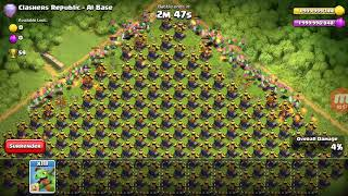 clash of clans all air defence vs air troops