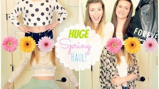 HUGE Spring Clothing Haul! Forever21 and H&M | 2014 Thumbnail