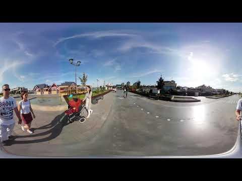 Кремлёвская набережная снятая на камеру 360 градусов.