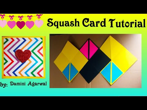 Scrapbook Ideas | Squash Card tutorial | Popup card | Diy