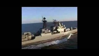 Russian Navy Udaloy class destroyer Live Fire