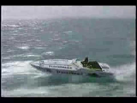 Rough water wave Jumps Air Offshore Powerboat Racing Pantera