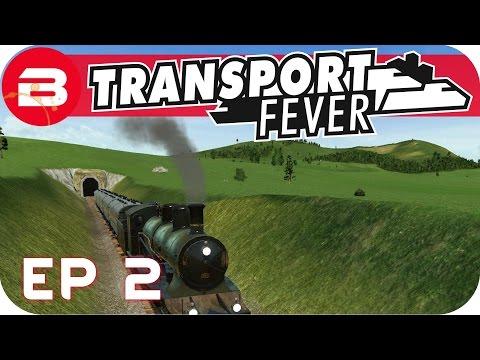 Transport Fever Gameplay - PASSENGER EXPRESS TRAIN (Let's Play Transport Fever #2)