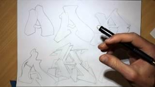 Graffiti Letters, Sketching Techniques Part 1