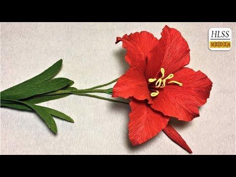 Com fer amaryllis paper flor  diy fàcil origami flor fer tutorials