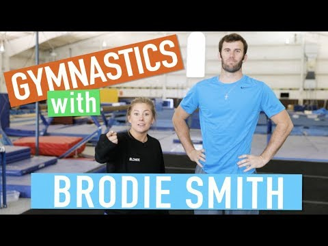 GYMNASTICS MEETS FRISBEE | Brodie Smith & Shawn Johnson