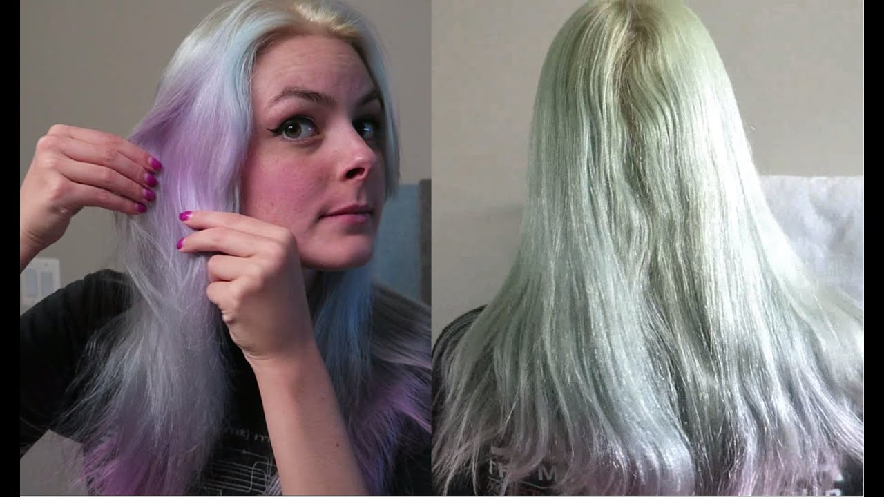 Color Oops Before and After for Fading Pastel Hair - YouTube